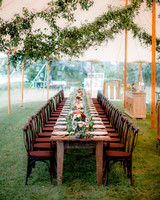 Rustic Long Reception Table