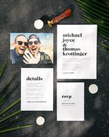 michael thomas wedding invitation stationary suite