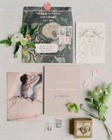 artsy wedding invitation