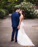 molly adam wedding couple kiss