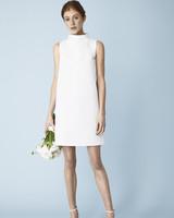 knee-length high neckline Molly Mookkamp Spring 2020 wedding dress