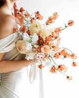 orange monochrome floral arrangement