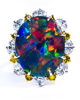 Oscar Heyman Opal Engagement Ring