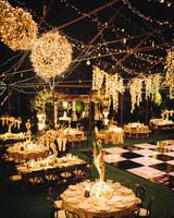 Wedding lighting ideas reception String Lights Welllit Reception Space At Night Martha Stewart Weddings Outdoor Wedding Lighting Ideas From Real Celebrations Martha