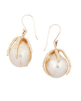 pearl wedding earrings lauren wolf