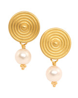 pearl wedding earrings reinstein ross