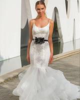 spaghetti straps mermaid persy wedding dress spring2018