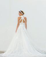 high neck a-line persy wedding dress spring2018