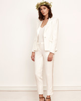 Simple Wedding Pantsuit