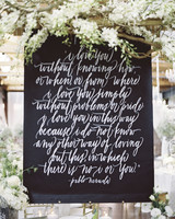 quote wedding gift table backdrop