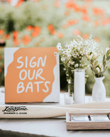 shannon jason wedding guest book bats