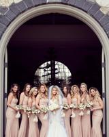 shqipe zenel wedding bridesmaids and bride