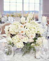 shqipe zenel wedding table centerpiece white flowers