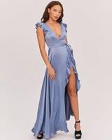 fame and partners light blue kira dress