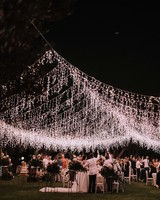 sparkling hanging lights