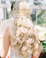 28 Half-Up, Half-Down Wedding Hairstyles We Love | Martha Stewart ...