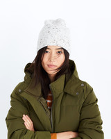 beanie green coat