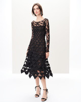 black overlay gown