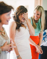 bride friends playing game