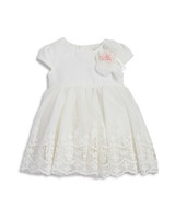 summer flower girl dress white lace short sleeves