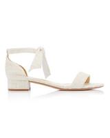 neutral colored linen sandals