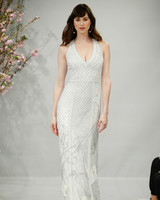 theia wedding dress spring 2018 embellished v-neck halter