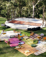 picnic reception set up