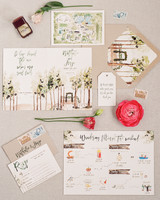 illustrated wedding stationery