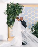 vanessa abidemi wedding ceremony kiss