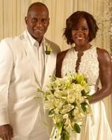 Viola Davis and Julius Tennon wedding photo