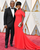 Viola Davis and Julius Tennon 2017 Oscars Red Carpet