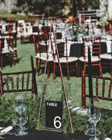 wedding table numbers diy triangular decor