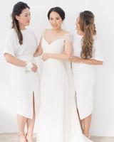white bridesmaid dresses paul anagnou