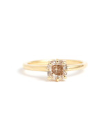 Gold Champagne Diamond Ring