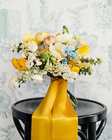 Yellow and Blue Wedding Bouquet