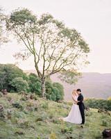 amanda alex wedding couple near tree