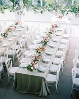 amanda alex wedding reception tables birds-eye view