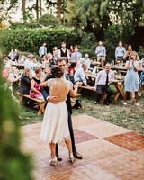 amy nick wedding couple dance