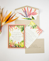 beach wedding invitations tropical vibrancy