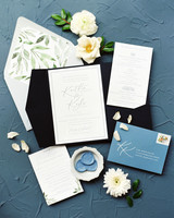 booklet stationery idea with oceanfront accents