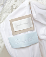 cass heath wedding dress label
