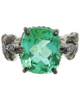 Cathy Waterman Emerald Engagement Ring