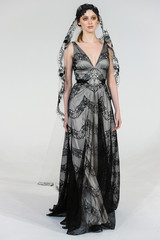 Claire Pettibone black wedding dress