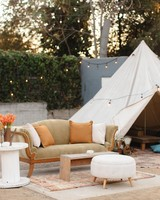 outdoor lounge tent lights
