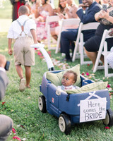 dawn rich wedding wagon ring bearers