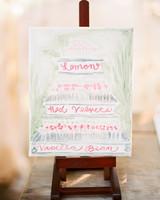 dessert menu ideas painted artistic rendition easel