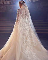 elie saab off-the-shoulder ball gown wedding dress fall 2018