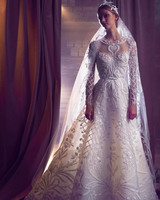 elie saab embellished long-sleeves a-line wedding dress fall 2018