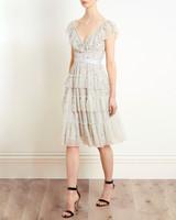 "needle & thread ""sunburst"" midi dress"