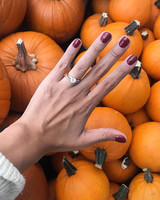 engagement ring selfie pumpkin patch